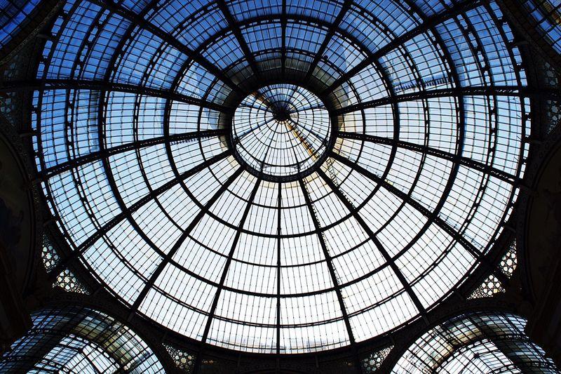 Directly below shot of skylight at duomo di milano