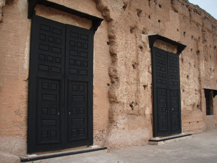 Africa Architecture Damaged Doors Marrakech Marrakesh Morocco Old Old Ruin Palace Ruins Stone Wall Wall