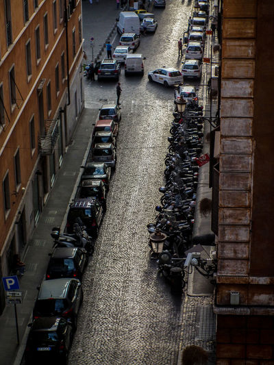 Architecture Car Cielo Nuvoloso City Day High Angle View Italia Italien Italy Italy❤️ No People Outdoors Rom Roma Rome Strada Straße Street Street Photography Streetphotography Transportation Viagem