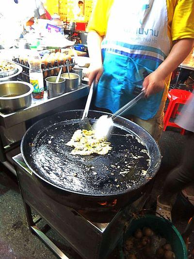 Fried mussel.
