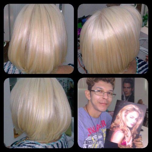 Tranformacao, esqueci de tirar do antes! Hairdesing Blond Hairstyle Hair haircoiffeur @charlesb2011. Esta aprovado Charles ?! :-D
