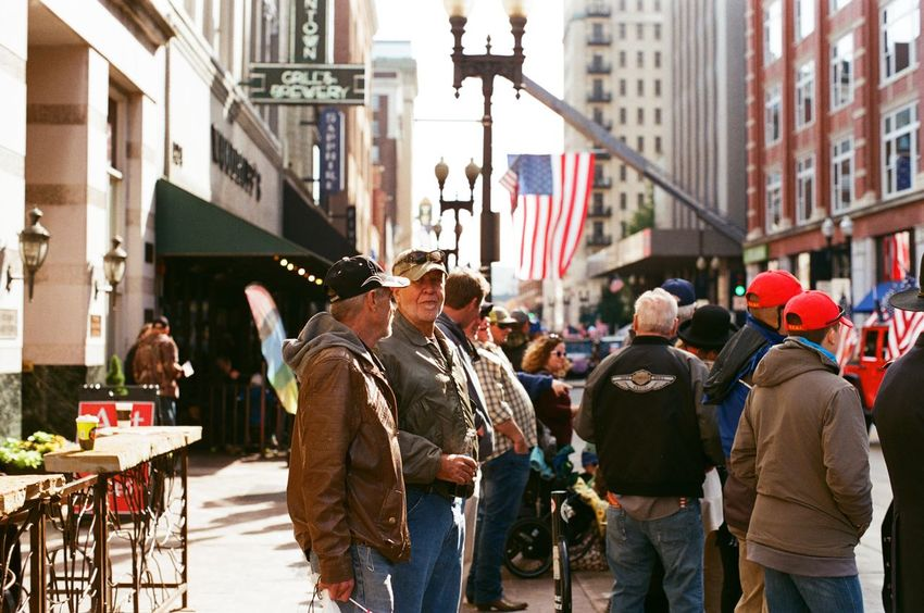 35mm Film Downtown Talking Pictures America Candid Filmisnotdead Streetphotography Veterans