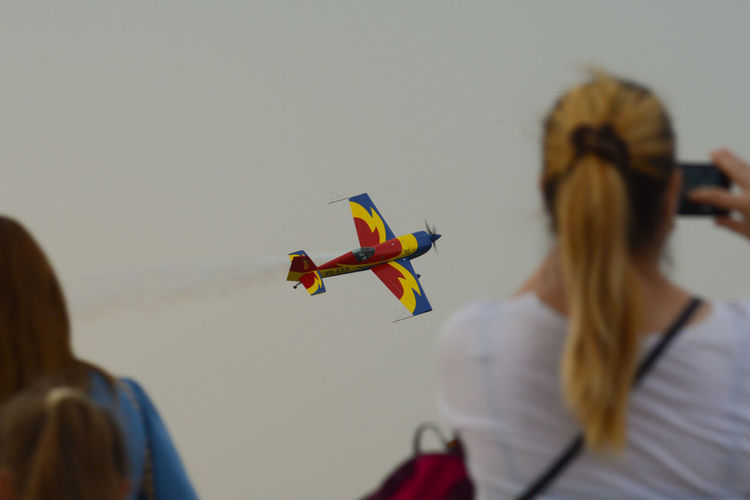 Hawk solo Acrobatics  Airshow Airshowphotography BIAS2016 Bucharest Bucureşti Extra 300 Focus On Foreground Hawks Of Romania Outdoors Plane Planes Romania Sky
