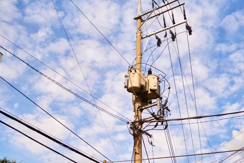 EyeEm Selects Cloud - Sky Low Angle View Sky Cable Electricity  Technology Power Line