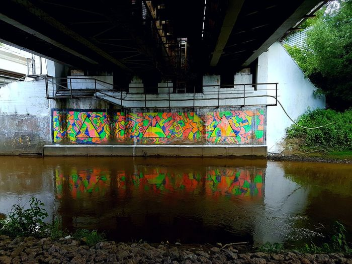 Neon Life Graffiti Multi Colored No People Architecture Under The Bridge Down River Art Is Everywhere Outdoors