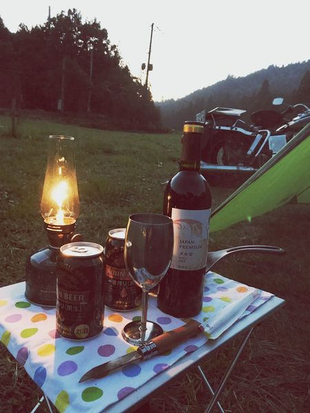 ソロキャン🏕 Outdoors Food And Drink No People Wine EyeEm Best Shots EyeEm Gallery ソロキャンプ テント バイク