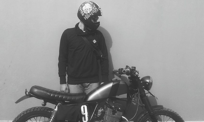 Bang'o Scrambler Classicparkingonly B&w
