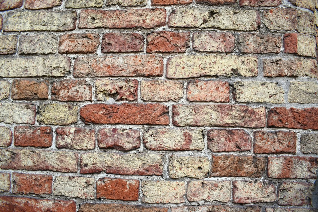 brick wall, brick, backgrounds, wall - building feature, built structure, architecture, red, textured, building exterior, rough, history, full frame, outdoors, day, no people, close-up