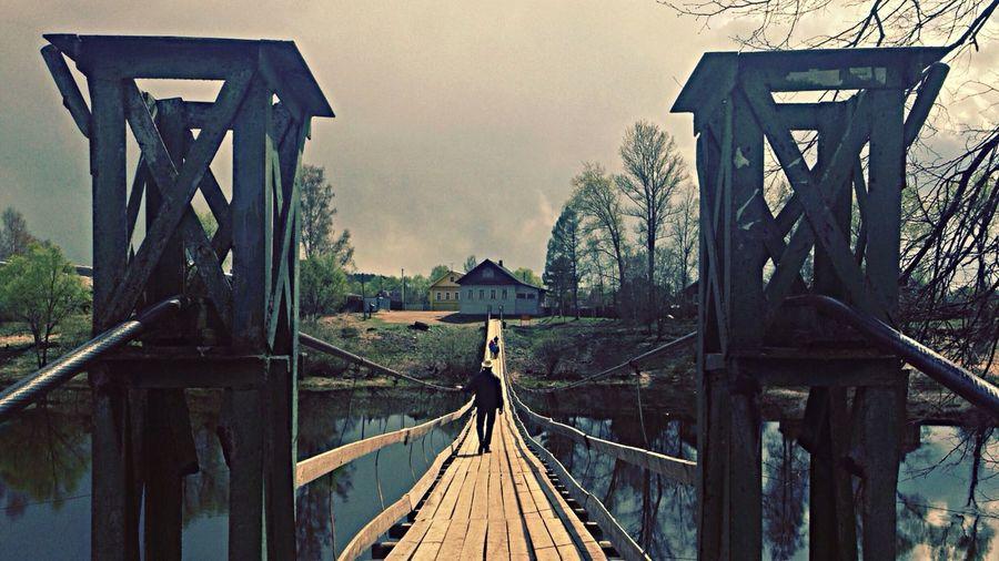 Footbridge over river