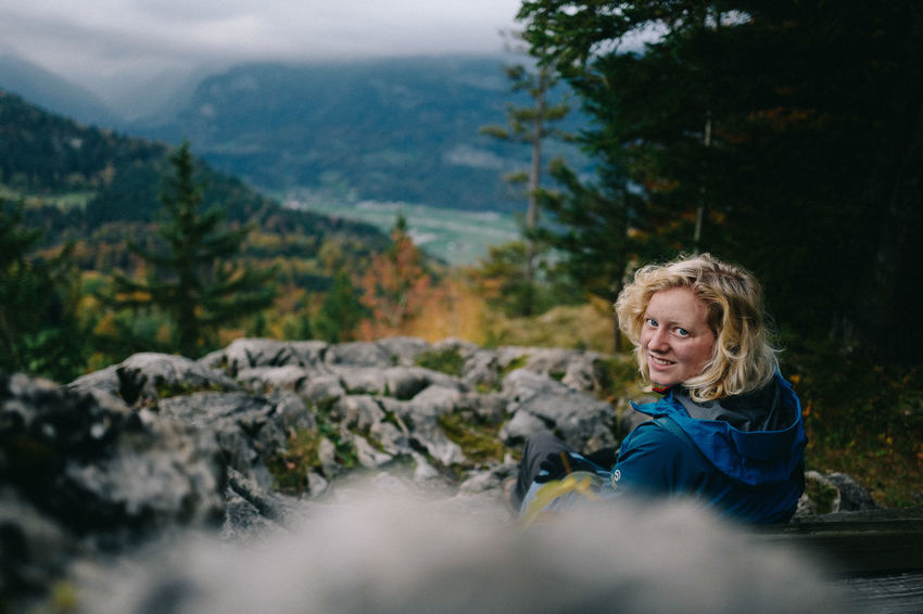 Beauty In Nature Blond Hair Day Hohfluh Landscape Meiringen Mountain Nature One Person One Woman Only Outdoors Rock - Object Swiss Swiss Alps Switzerland Valley View