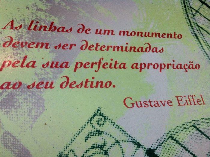 Sentence Gustave Eiffel