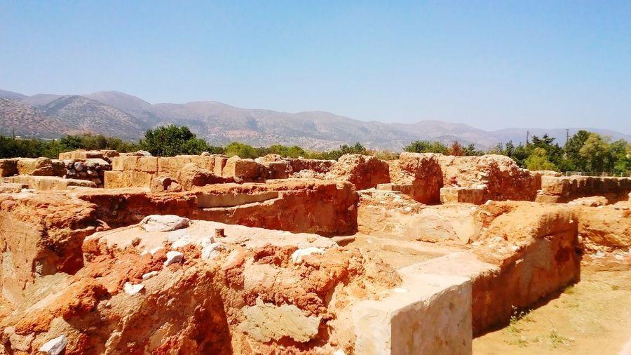 Minoan Civiliasion Malia Crete Crete Greece Minoan Palace Minoan Town Minoan Ancient Civilization Sky Ancient History
