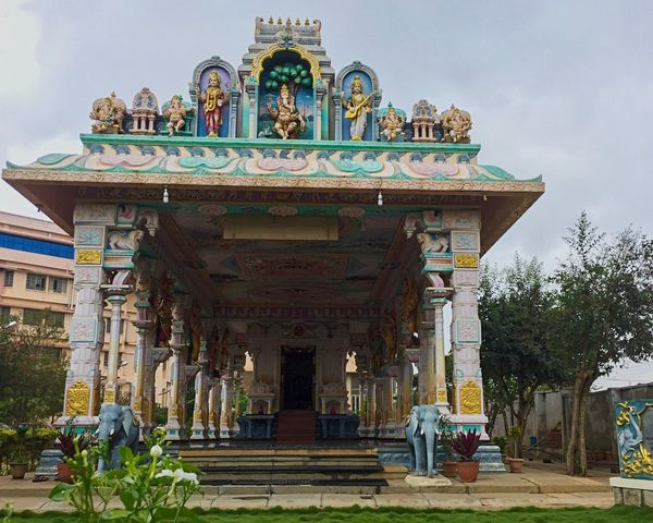 Place Of Worship South Indian Temple Architecture Colorful Bangalore Religion Hinduism IPhoneography