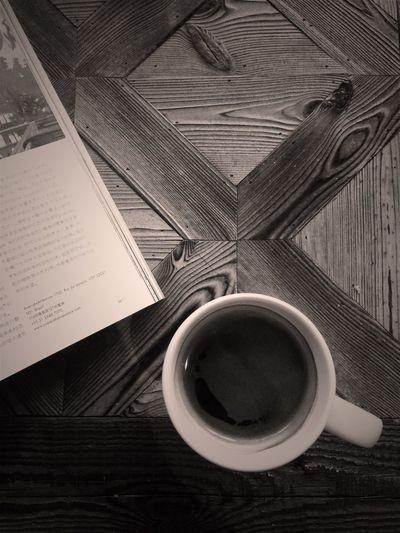 Cafe Americano Coffee Blackandwhite