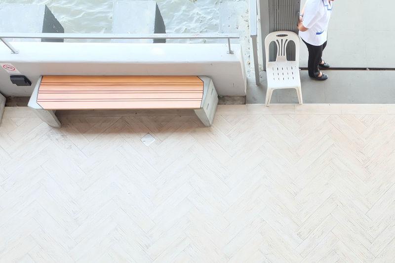 Bench Hardwood Floor Human Body Part Human Leg Low Section Standing Waiting Waw