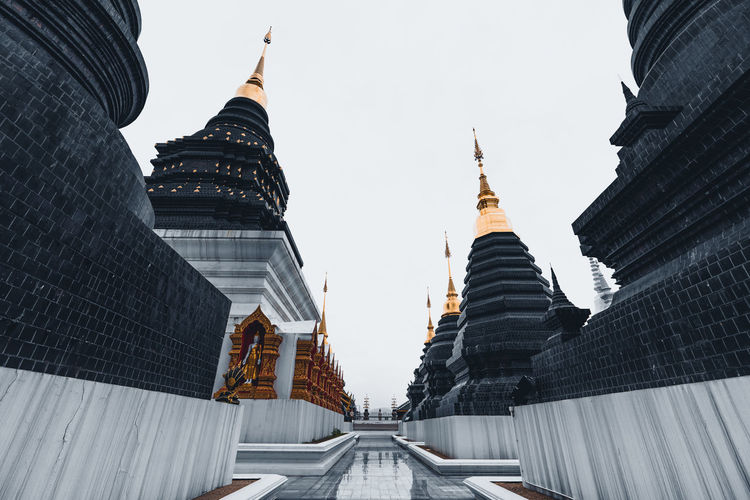 View of temple building against sky