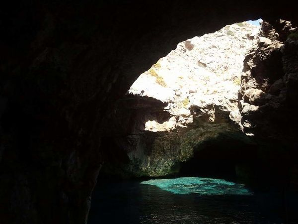 Italy Sicily Marettimo Sea Cave Light And Shadow