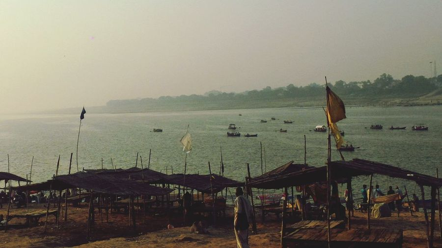 Ghats Of Allahabad Sangam 6oclock Allahabad Clam River Flow Riverview GoodMorning⛅ Random Nature Shots