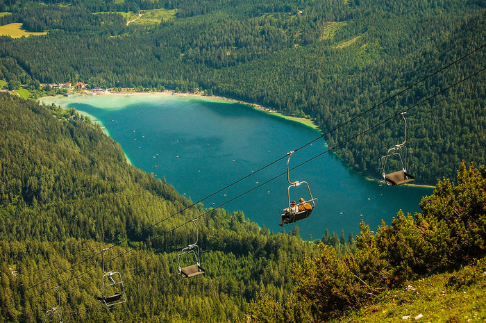 Erlaufsee Berge Österreichs Stim Beauty In Nature Chairlift Erlaufsee Green Color Lake Landscape Mountain Mountain Range Outdoors Schönes Österreich Landschaften Alps Austria Best Shots Hofi Hofis Landschaften Tranquil Scene Tranquility Travel Destinations Water