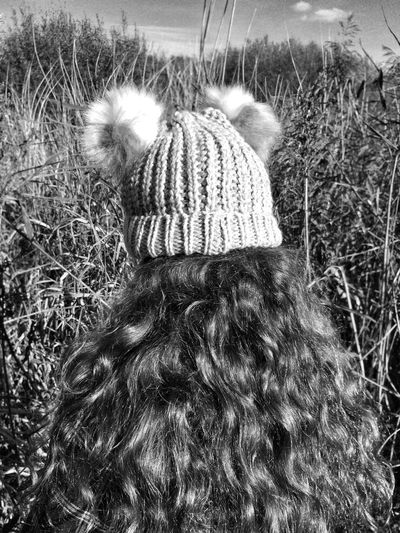 My hat,my hair🌍🌞 Rear View Real People Childhood Field Lifestyles Outdoors Day Nature People Monochrome Photography Leisure Activity One Person Child Young Vegetation Explore Girl