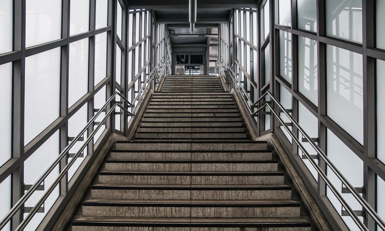 way up .... Absence Aufwärts Berlin Ceiling Diminishing Perspective Geländer Glass Glass Wall Hdr_Collection Indoors  Leading Metal Modern Railing S-bahnhof Schöneberg Staircase Stairs Steps Steps And Staircases Subway The Way Forward Treppe Wall
