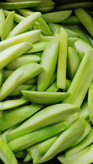 Green Color Food Healthy Eating Vegetable Full Frame Freshness No People Large Group Of Objects Close-up Fresh Food Market Green Mango