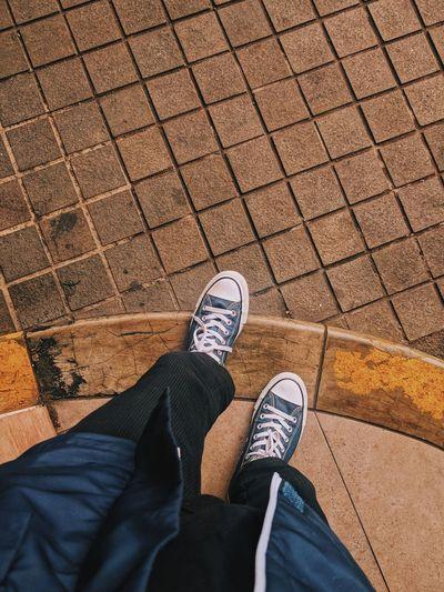 walk Converse Sneakers Canvas Shoe High Angle View Street Skateboard Park Sports Ramp Footwear Skateboard Shoelace