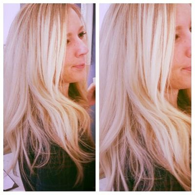 THURSDAY exactly a week before Christmas 2014... Blowoutoftheday Christmas2014 Hair Blondehairdontcare