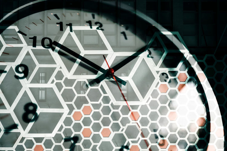 10 Architecture Backgrounds Clock Clock Face Clock Hand Close-up Design Geometric Shape Illuminated Indoors  Instrument Of Time Minute Hand Modern No People Number Pattern Shape Technology Time Wheel