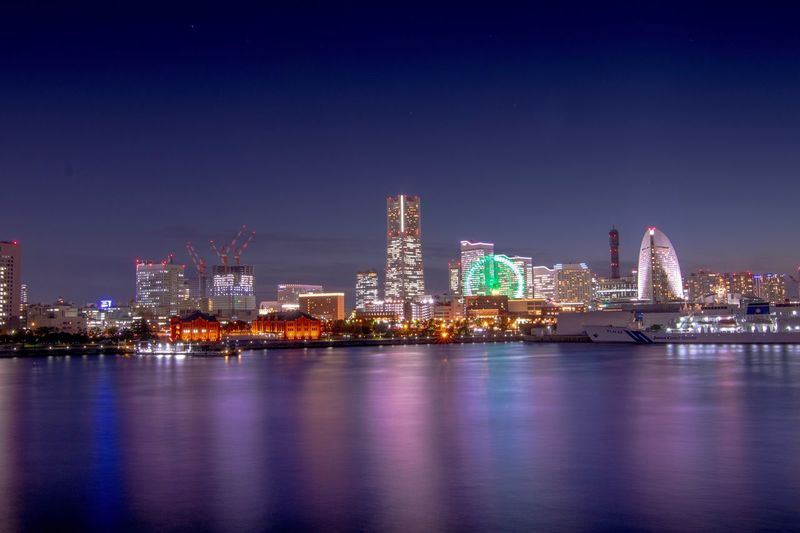 Night View Night Hot Cool Minatomirai Architecture Built Structure Building Exterior Water City Sky Waterfront Building No People Modern Skyscraper Reflection Illuminated Cityscape Urban Skyline Office Building Exterior Landscape Outdoors Nature First Eyeem Photo EyeEmNewHere