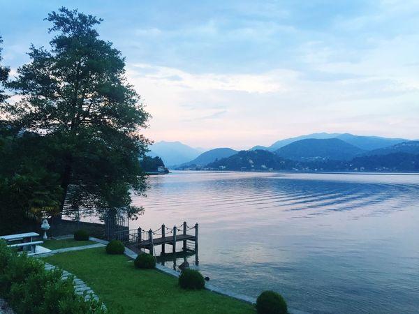 Lake Lake View Lago Passeggiando Sanmaurizio Italy Martedì Ortasangiulio Italia Isola Night Nature Spettacolo Panorama Lungolago