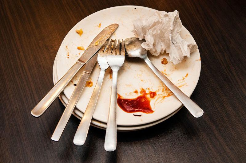 Dirty plates,