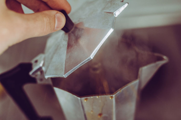 Caffeine Coffee Shop Percolator Steamy Stove Boiling Cafe Close-up Coffe Coffee Percolator Day Human Hand Indoors  Making Coffee One Person Real People Slow Coffee EyeEmNewHere