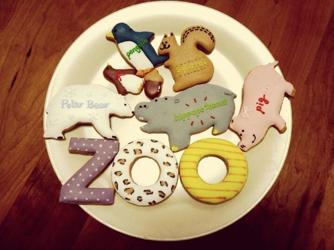 Icing Cookies Handmade Handmade By Me Cookies Baking Animals Zoo Colours Colorful Hello World