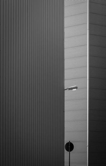 Full frame shot of closed metallic wall