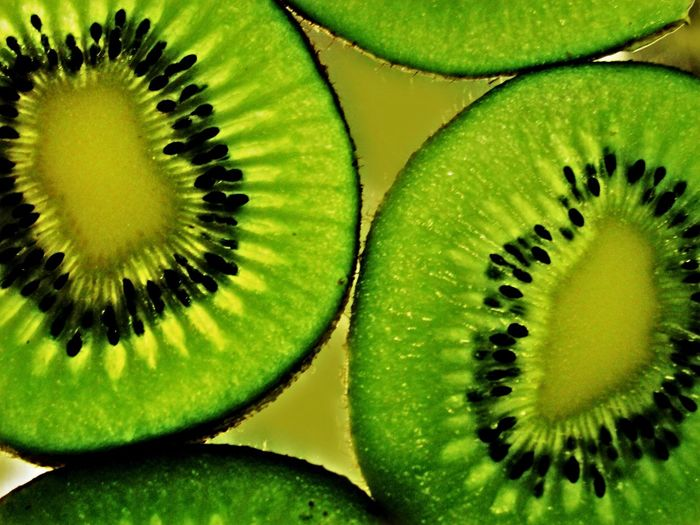 Macro Photography Kiwifruit Use Of Flash Backlit Subject Flying High Visual Feast