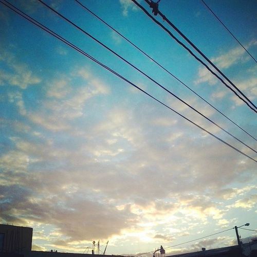 Morning Sky Clouds Wire Charlieimages streetphoto