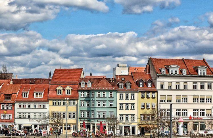 Clouds Cloudy Deutschland Domplatz Erfurt Germany Halftimbered Houses Häuser Häuserzeile Medieval Architecture MedievalTown Pastel Pastel Goth Roofs Thuringen Wanderlust