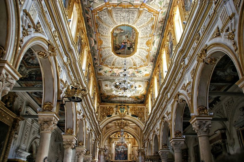 Religion Place Of Worship Spirituality Travel Destinations Architecture Built Structure No People Low Angle View Indoors  Day Close-up Italy Luxury No People, Indoors City