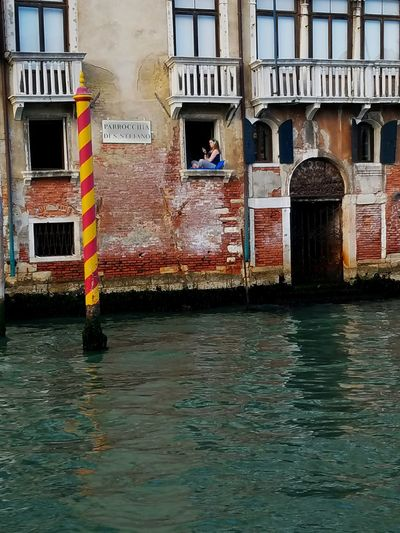 Architecture Building Exterior Waterfront Canal Residential Building City Life People Watching People And Places People Around You Venice People On The Street People Photography People And Technology My Year My View