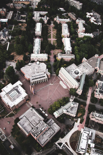 University of Washington Quad Campus UW University Of Washington Aerial View Architecture City High Angle View The Quad