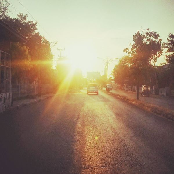 Morning Sunrise Street Sun