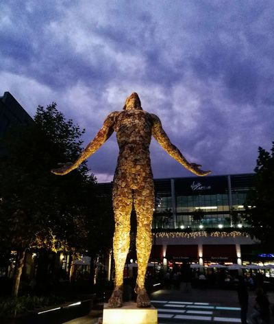 Clouds Clouds And Sky Clouds And Buildings Sunset Sculpture Sculpting A Perfect Body Art Love Night Sky Illuminated Outdoors Architecture Full Length No People EyeEmNewHere