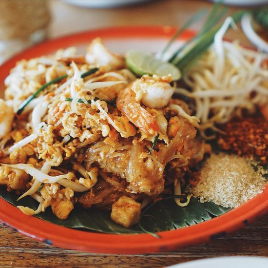 Pad thai Pad Thai Food Ready-to-eat Close-up Freshness Food And Drink Indoors  Plate Meal Asian Food Serving Size No People