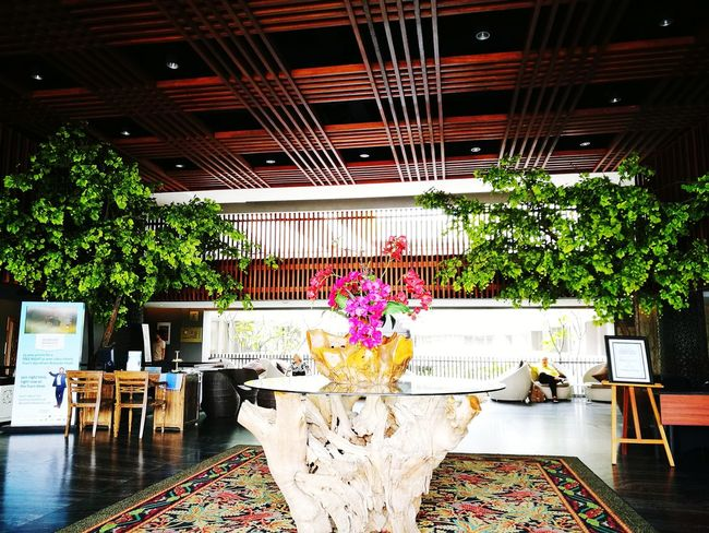 Indoors  Architecture Day Tree Flower Interior Wood Panelling Ceiling Design Warm Ambience Ramada Hotel Bali, Indonesia Follow Followme