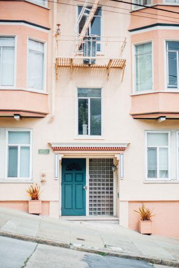 Architecture Building California Color Contrast Lifestyle Outdoors Pink Portrait Sanfrancisco Vertical Vibrant VSCO