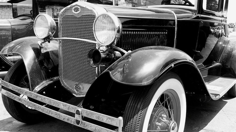 Antique Car Antique Ford Ford Automotive Photography Black & White Black And White Photography