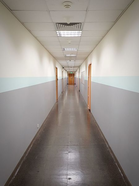 My long corridor walk... Walkway Alley Corridor Perspective Photography Workplace No People Indoors  Architecture