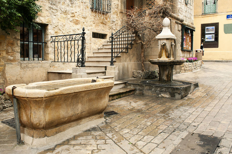 Absence Architecture Bad Condition Built Structure Diminishing Perspective Empty Fountain France History Obsolete Old Railing Ruined Shadow Sidewalk Staircase Stairs Steps Steps And Staircases The Way Forward Valbonne Walkway Wall