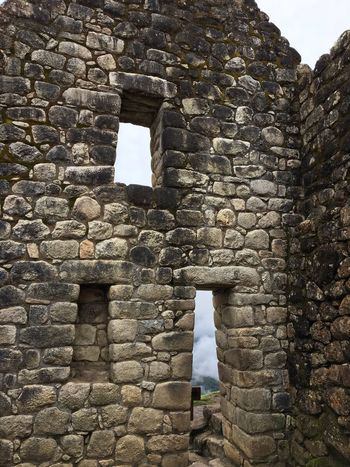 Machu Picchu Stone Wall Built Structure Architecture Brick Wall Old Ruin One Person History Ancient Fort People Real People Outdoors Building Exterior Day Ancient Civilization Arch
